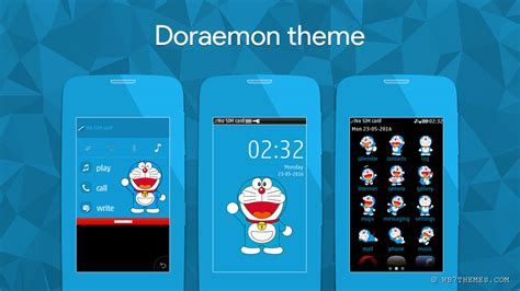 doraemon themes for nokia c2 doraemon theme s40 asha full touch