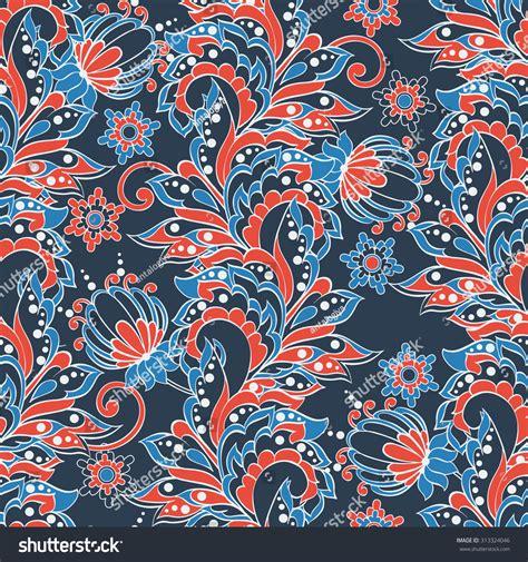 floral pattern batik indian floral seamless pattern in batik style stock vector