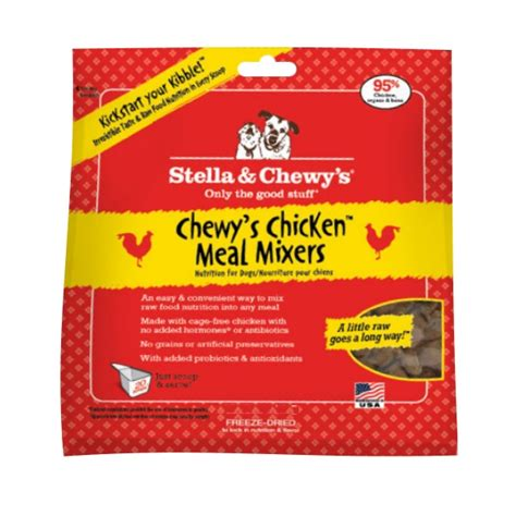 stella and chewy food stella chewy s chewy s chicken meal mixers freeze dried food topper 18 oz bag