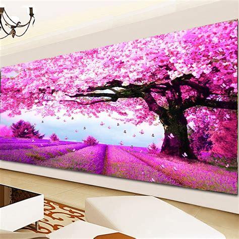 diy 5d ᗛ mosaic mosaic landscapes purple lavender