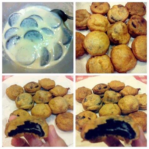 cara membuat oreo goreng tanpa baking powder resepi biskut oreo goreng resepi bonda