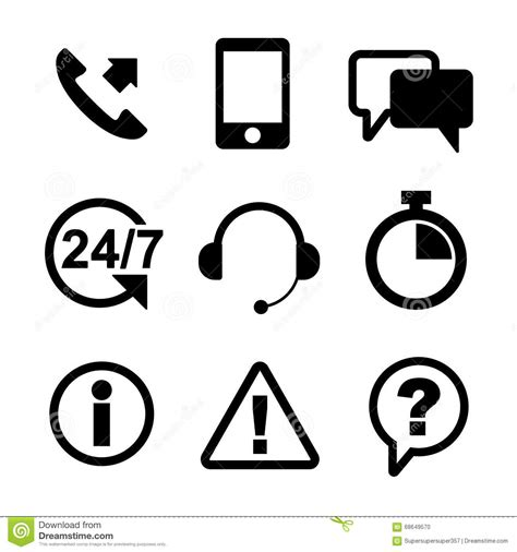 format eps vector customer service icon set black outline stock vector