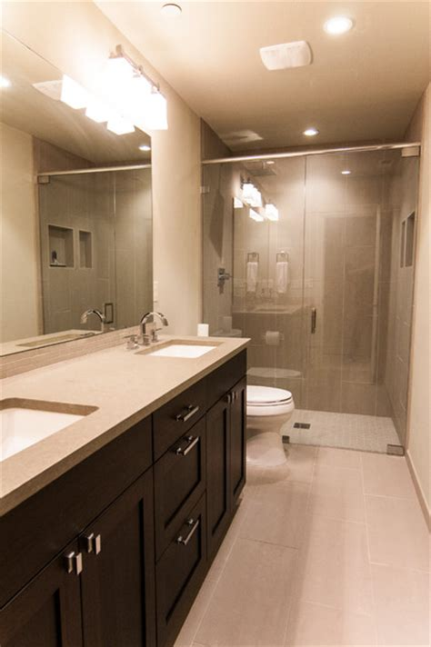 daylight basement bath modern bathroom seattle by