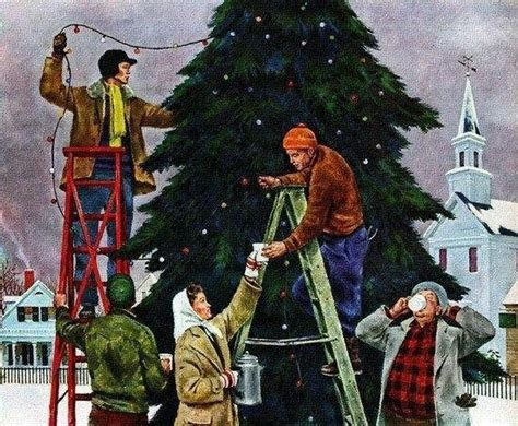 trimming the christmas tree vintage christmas pinterest