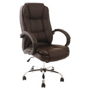 Brown Leather Desk Chairs Uk Santana Brown High Back Executive Office Chair Leather