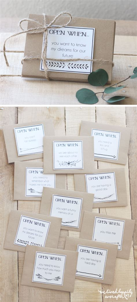 free printable envelope labels we lived happily ever after printable quot open when