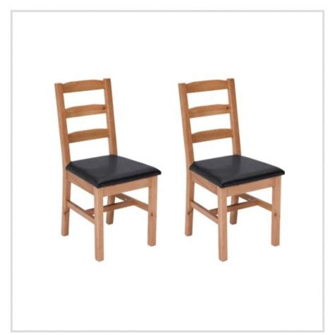 living wiltshire pair of solid oak black dining chairs