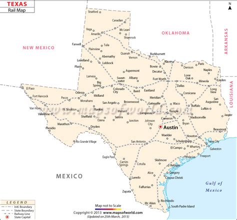 railroad maps texas texas rail map www mapsofworld