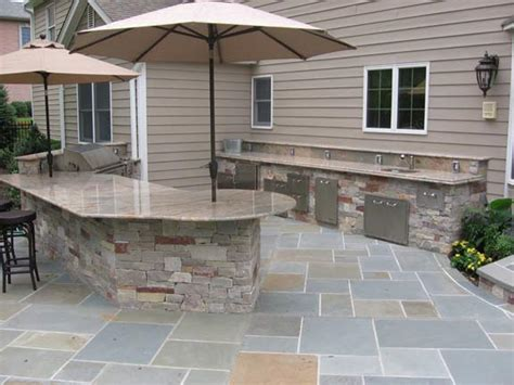 outdoor kitchen against house swimming pool landscaping ideas inground pools nj design