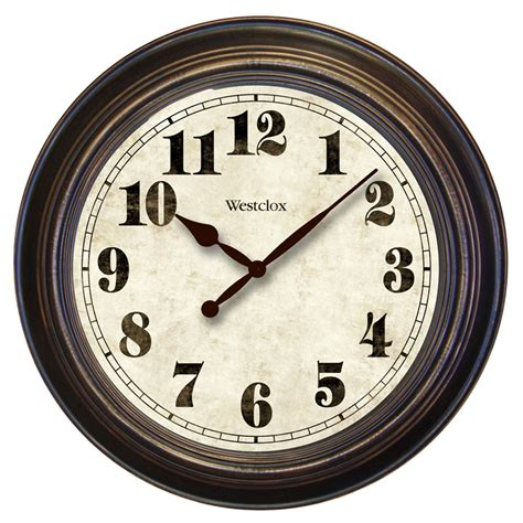 wall clock westclox oversized 24 quot wall clock reviews wayfair