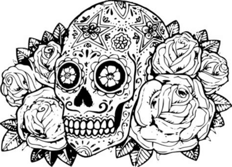 coloring pages for adults skulls 20 free printable sugar skull coloring pages
