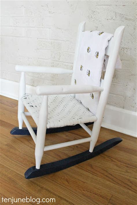 Diy Rocking Chair by Ten June Multi Colored Spray Painted Rocking Chair A