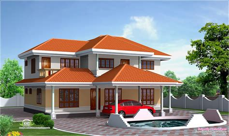 4 room house four bedroom house elevation in 2500 sq feet home kerala plans