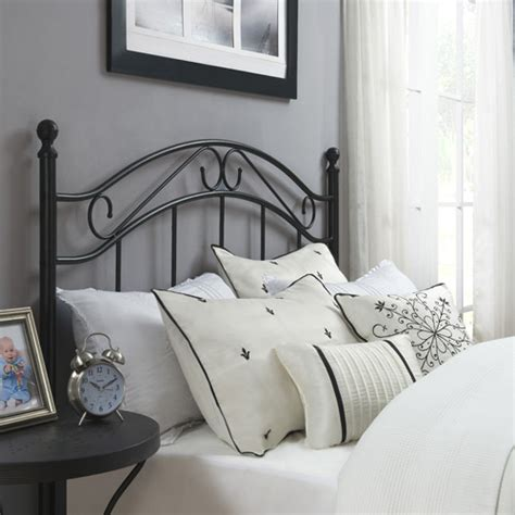 walmart bed headboard mainstays full queen metal headboard multiple colors