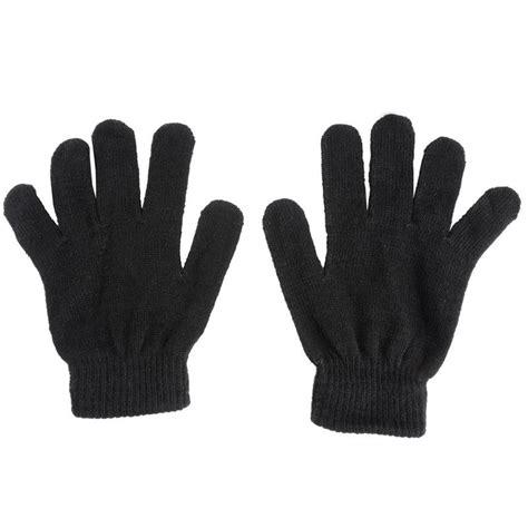 Plain Gloves 2 pack of black or grey gloves fingerless with