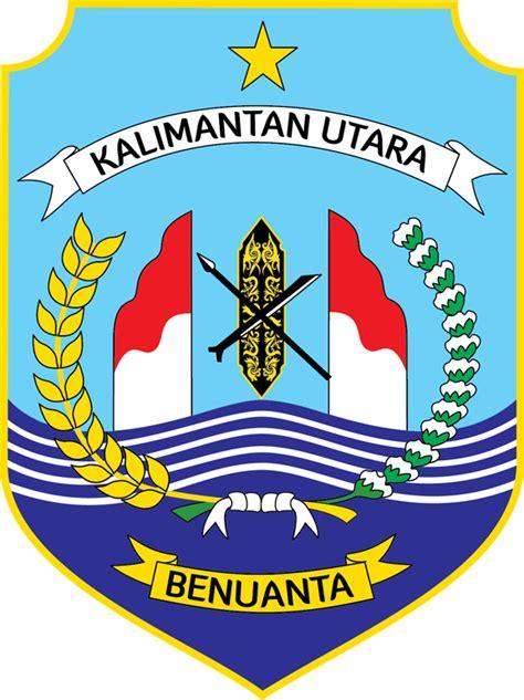 Emblem Logo Tersformen Warna Kuning lambang kalimantan utara bahasa indonesia