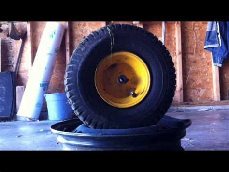 seating lawn mower tire how to seat the bead on a lawn tractor tire