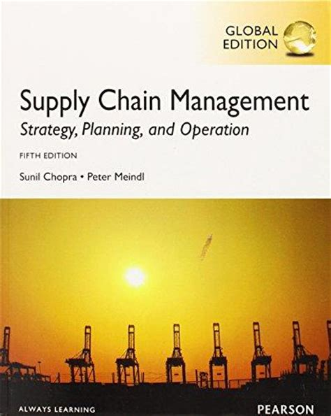 operations strategy 5th edition books isbn 9780273765226 supply chain management strategy