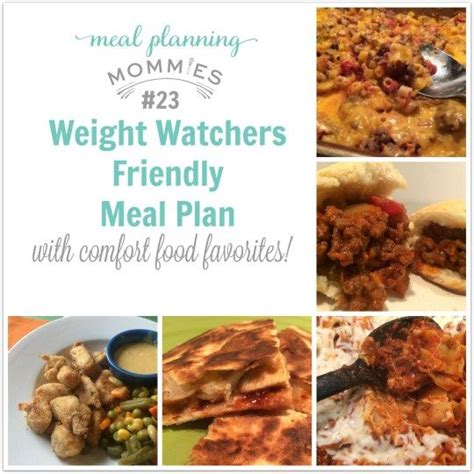 Comfort Food List by 60 Best Images About Weight Watcher Meal Plans On