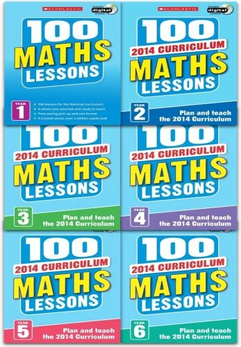 100 lessons national curriculum maths years 1 6 100 maths lessons 2014 curriculum collection 6 books set year 1 to 6 9789526518381 buy books