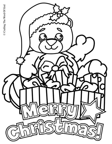 christmas coloring pages teddy bear christmas bear coloring page 171 crafting the word of god