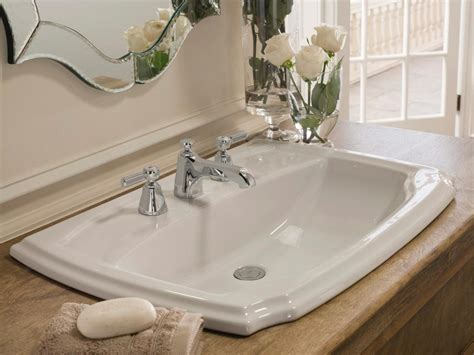 bathroom sinks ideas self rimming sink a self rimming sink is the easiest to