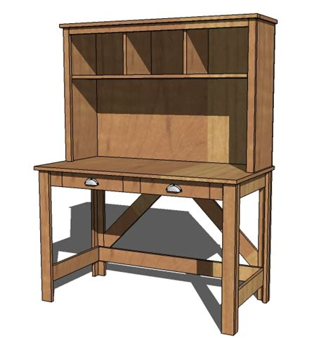 hollands simple wood desk plans free