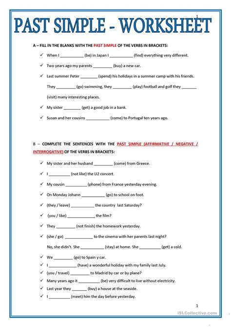free printable worksheet simple past past simple worksheet worksheet free esl printable