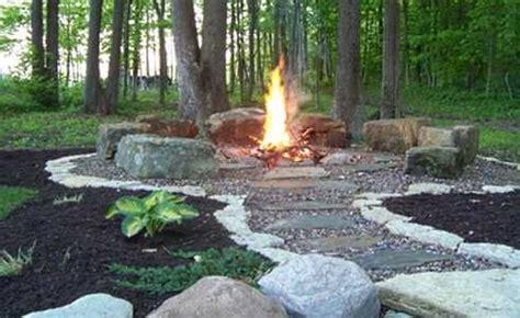 stone fire pit designs veritable works  art
