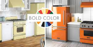 colored kitchen appliances big chill professional and retro ranges refrigerators