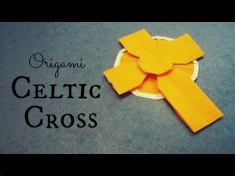 How To Make A Origami Cross - celtic cross origami tutorial tadashi mori s3h