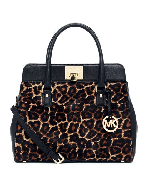 Michael Kors Hair Calf Cut Out Handle Purse by Michael Kors Astrid Large Calf Hair Satchel In Black Lyst