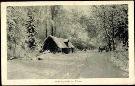 holzhütte im schnee mieten ansichtskarte postkarte waldschmiede im schnee akpool de