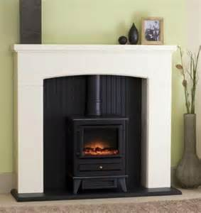 new white mantle black fireplace electric stove