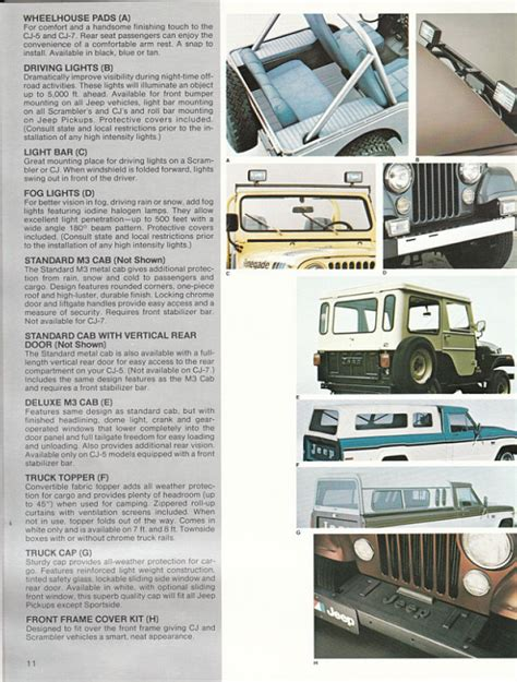 Jeep Accessories Catalog Image 1982 Jeep Accessories 1982 Jeep Accessories Catalog 11