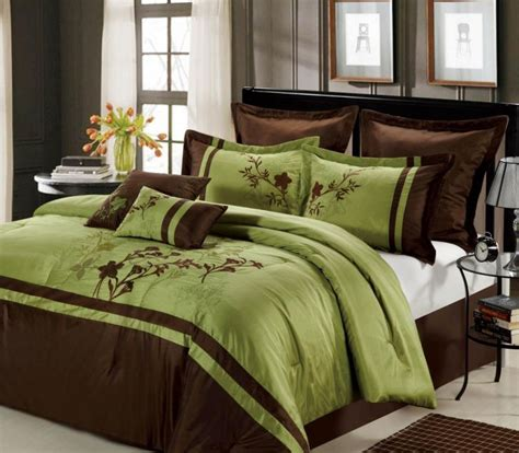 presence green and brown bedding sets atzine