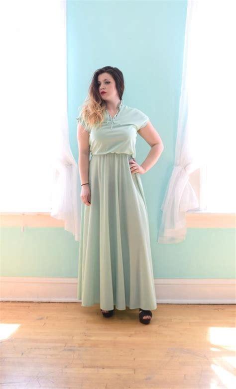 Vintage 1 Jumbo Maxi By Zhafash vintage 1980s mint green maxi dress bridesmaid wedding guest small s medium m large l xlarge xl