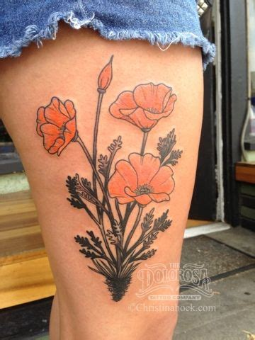 california poppy tattoo designs california poppy search tattoos