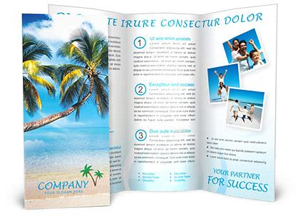 vacation brochure template vacations brochure template design id 0000000096