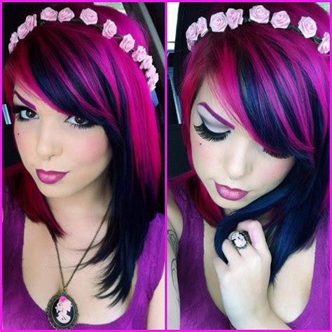 Black And Pink Hairstyles by Black And Pink Hair Color Ideas Www Pixshark
