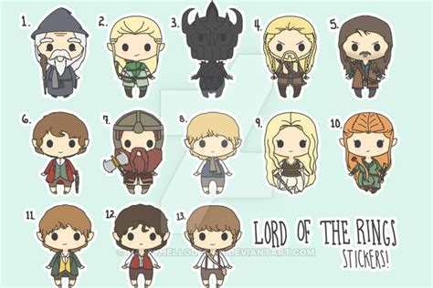 Tsania Series Ori By Rins chibi lord of the rings stickers by happyhellodesign on