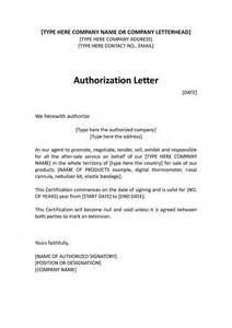 Authorization Letter Due Working Abroad authorization distributor letter sample distributor
