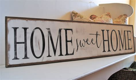 home sweet home 1 x4 sign distressed shabby chic wooden