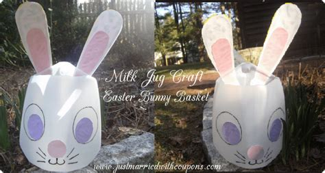milk jug crafts for milk jug easter bunny basket craft homemaking hacks