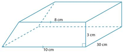 volume of trapezoidal section teacher resources volume of prisms and cylinders page 4