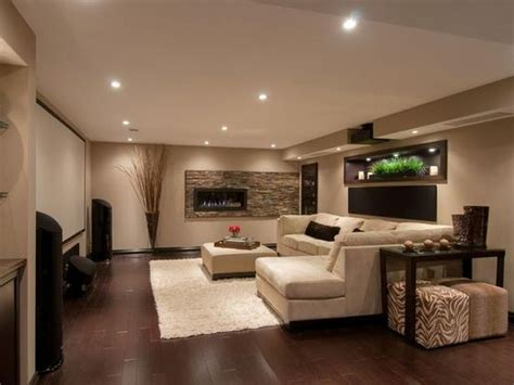 Basement Family Room Ideas Home Theater Ideas Design Ideas For Home Theaters Sectional Sofas Fireplaces And