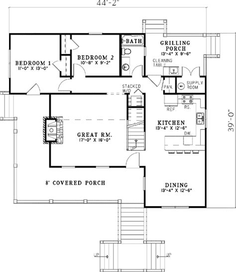 elevated floor plans elevated hideaway cottage 59960nd architectural