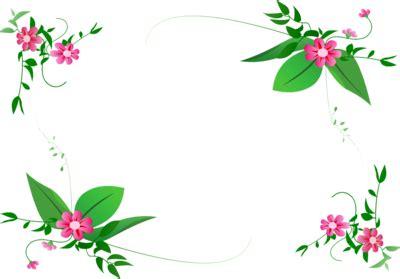 floral pattern border png green flower border design png