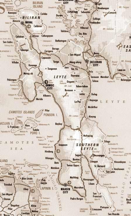san jose tacloban map trexplore leyte island