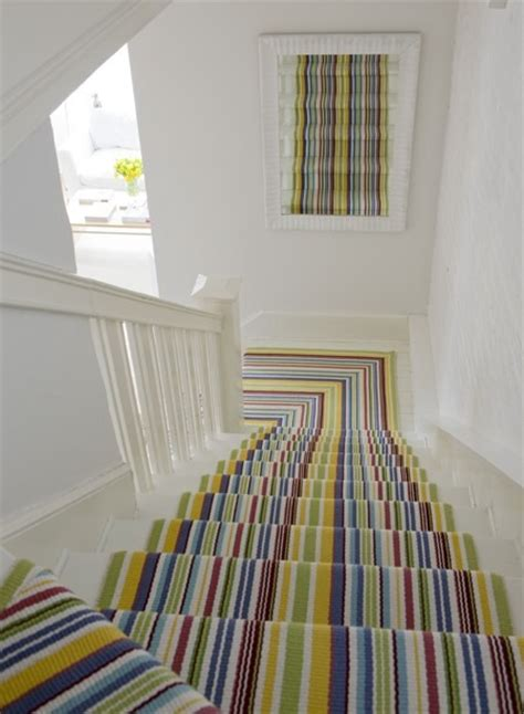 Stair Treads For Carpeted Steps by 15 Fabulous Stair Runners And One That Isn T The Diy